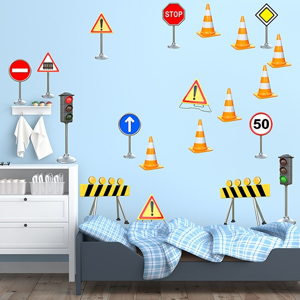 Stickers for Kids: Construction Signals Kit