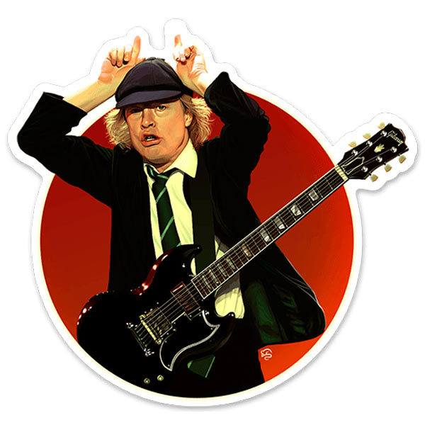 Car & Motorbike Stickers: Angus Young