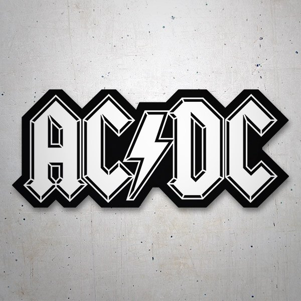 Car & Motorbike Stickers: ACDC black and white