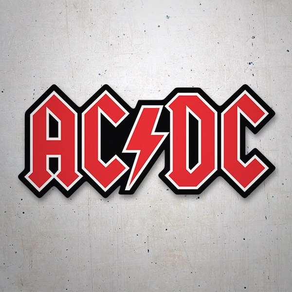 Car & Motorbike Stickers: AC/DC Red