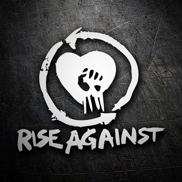 Car and Motorbike Stickers: Rise Against