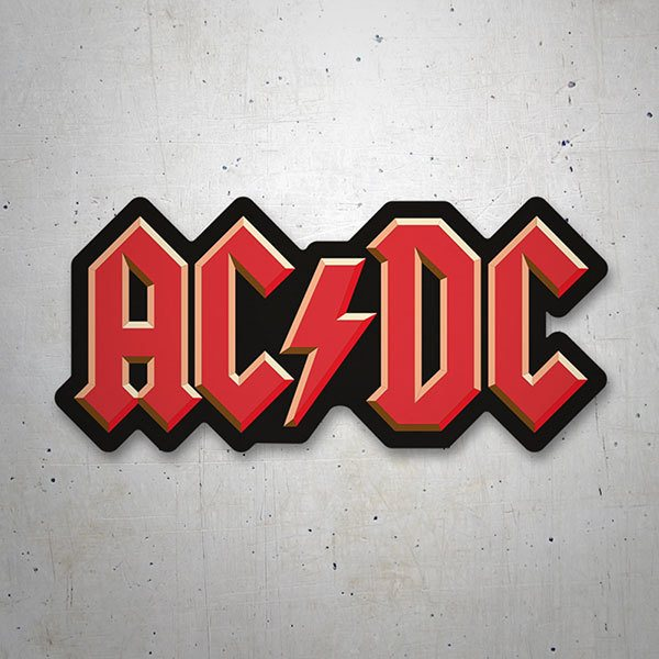 Car & Motorbike Stickers: ACDC 3D