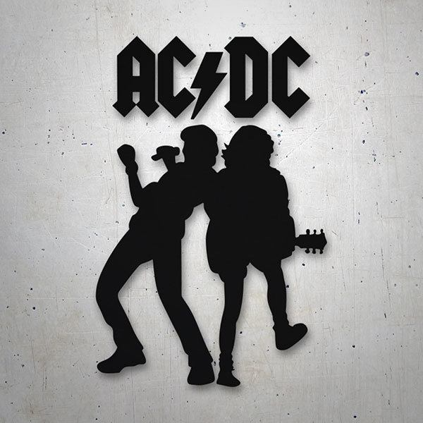 Car & Motorbike Stickers: ACDC Angus Young & Brian Johnson 0