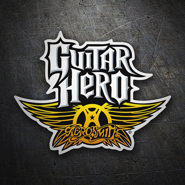 Car & Motorbike Stickers: Guitar Hero Aerosmith