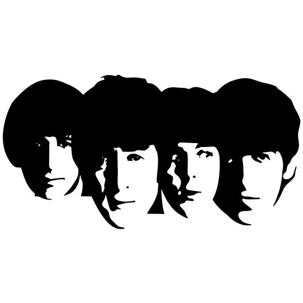 Car & Motorbike Stickers: The Beatles Faces