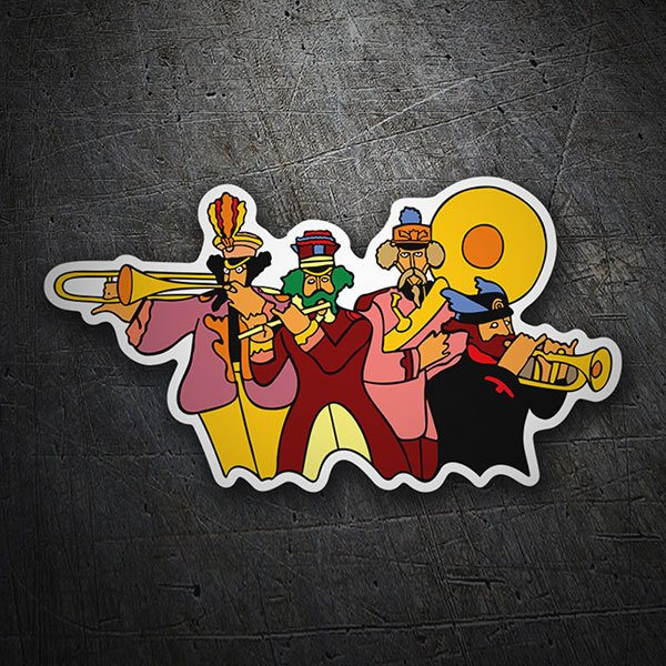 Car & Motorbike Stickers: The Beatles Band