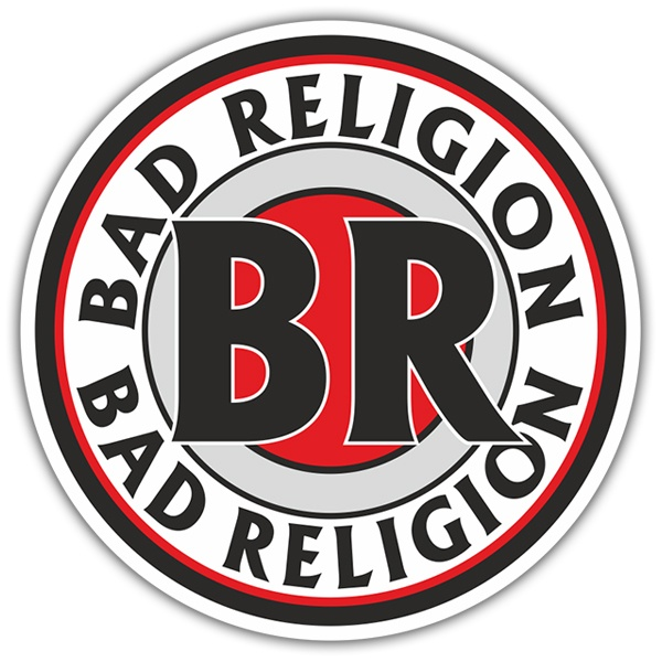 Car & Motorbike Stickers: Bad Religion Stamp