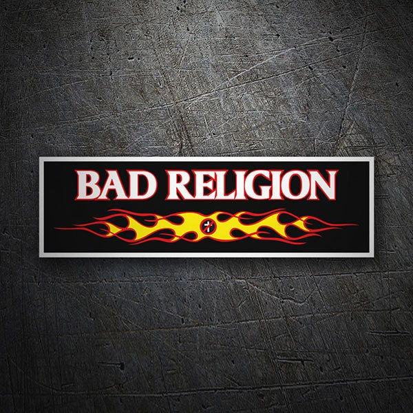 Car & Motorbike Stickers: Bad Religion Fire