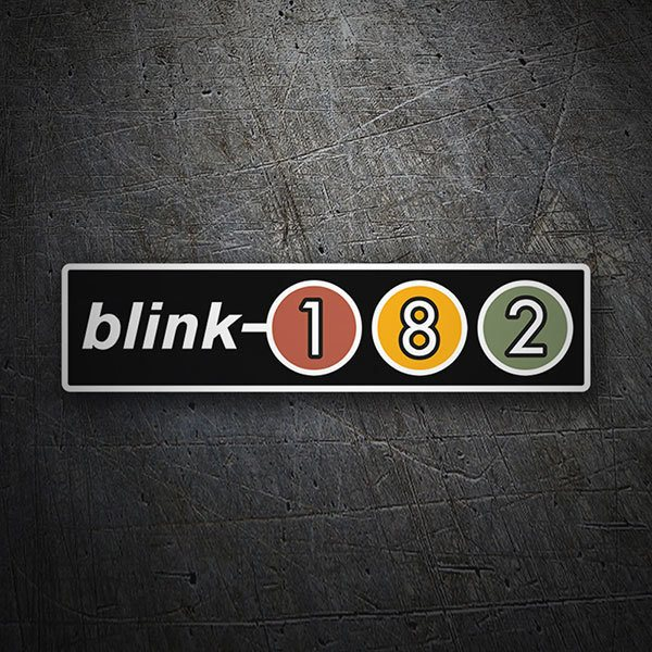 Car & Motorbike Stickers: Blink 182 Retro