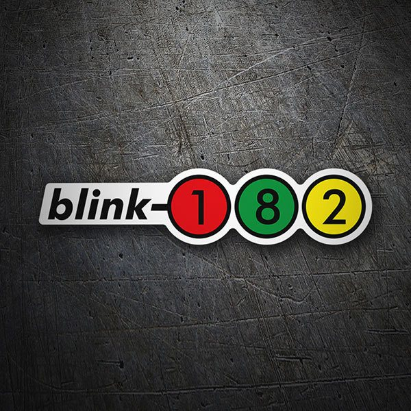 Car & Motorbike Stickers: Blink 182 Retro Alternative