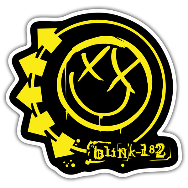 Car & Motorbike Stickers: Blink 182 Colour