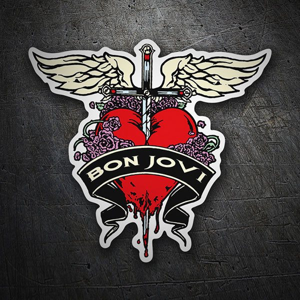 Car & Motorbike Stickers: Bon Jovi Heart 1