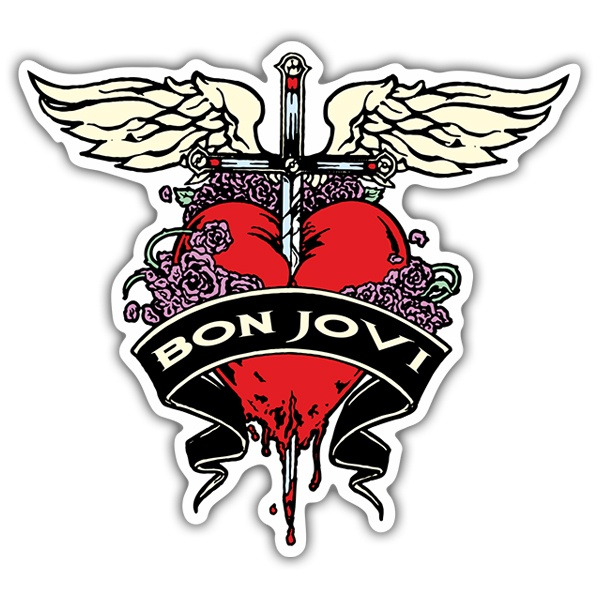 Car & Motorbike Stickers: Bon Jovi Heart