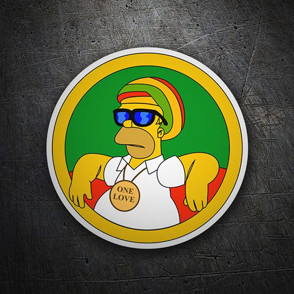 Car motorbike stickers homer simpson reggae