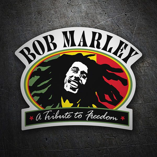 Car & Motorbike Stickers: Bob Marley Tribute