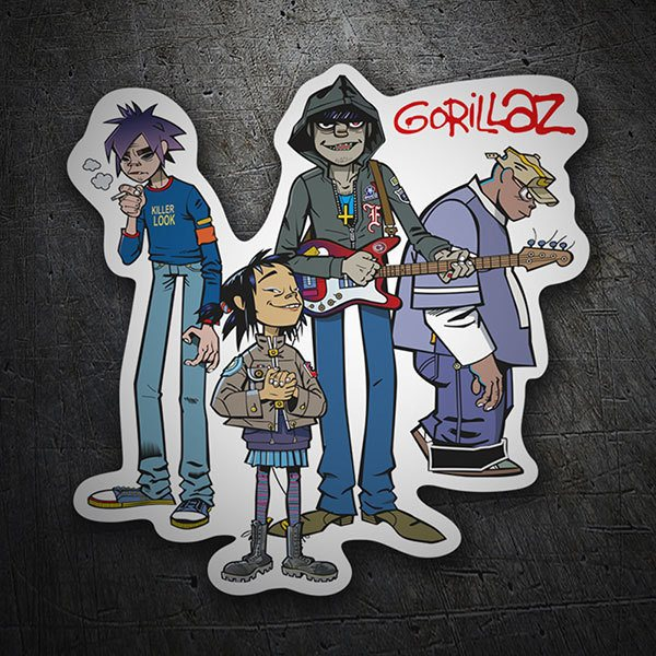 Car & Motorbike Stickers: Gorillaz, 2-D, Noodle, Murdoc and Russel 1