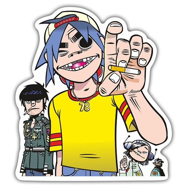 Car & Motorbike Stickers: Gorillaz Provoking