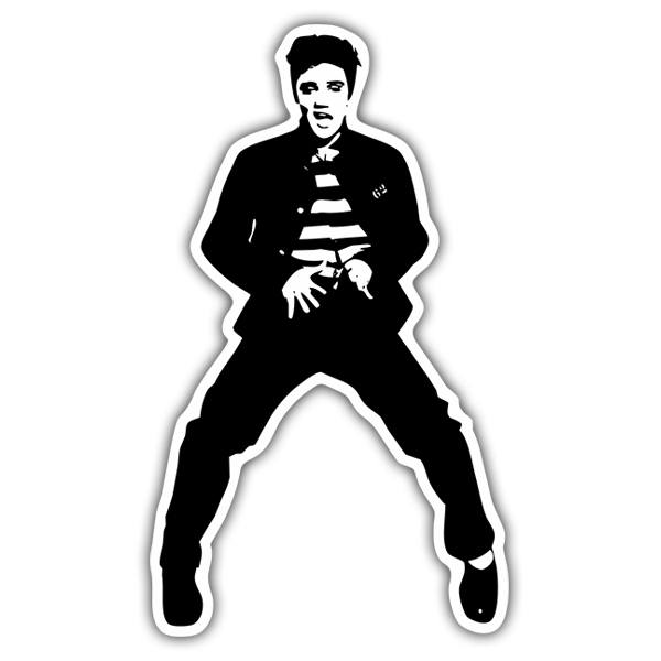 Car & Motorbike Stickers: Elvis Presley Jailhouse Rock 1957