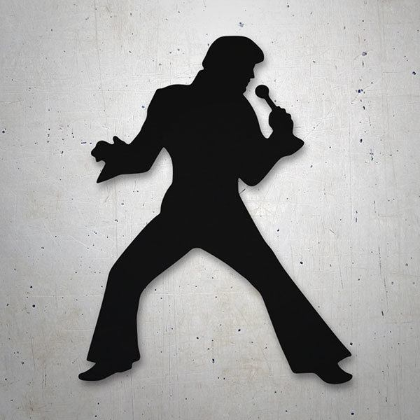 Car & Motorbike Stickers: Elvis Presley Silueta 0