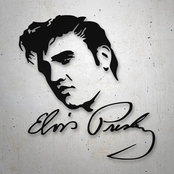 Car & Motorbike Stickers: Elvis Presley Photo with Autograph