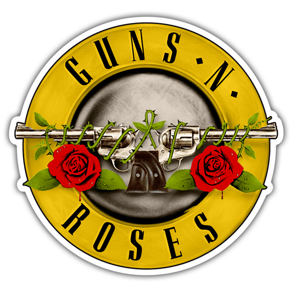 Car & Motorbike Stickers: Guns N 0