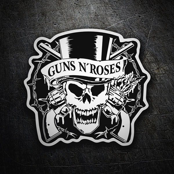 Car & Motorbike Stickers: Guns N' Roses Skull