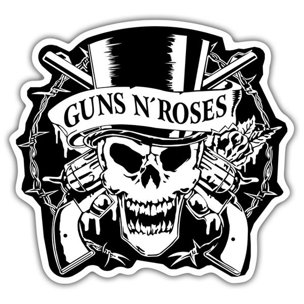 Sticker Guns N' Roses Skull