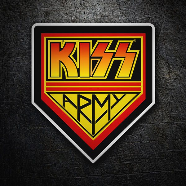 Car & Motorbike Stickers: Kiss Army