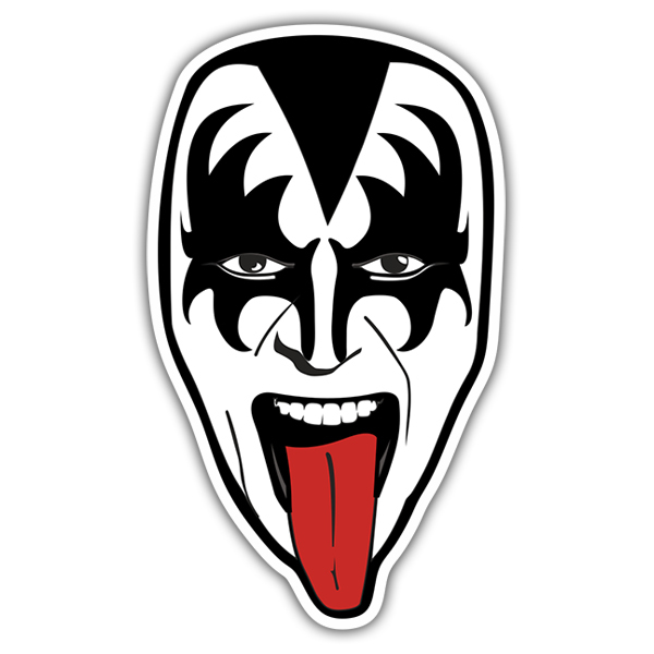 Car & Motorbike Stickers: Kiss Gene Simmons