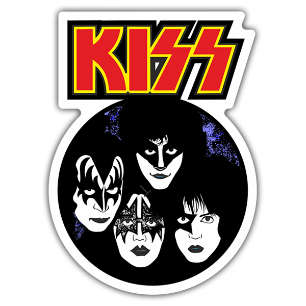 Car & Motorbike Stickers: Kiss Band