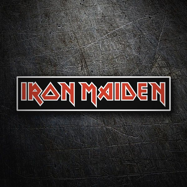 Car & Motorbike Stickers: Iron Maiden Red