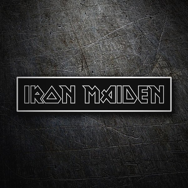 Car & Motorbike Stickers: Iron Maiden Negative