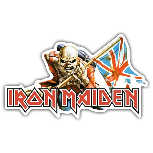 Car & Motorbike Stickers: Iron Maiden - The Trooper