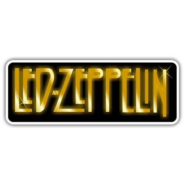 Car & Motorbike Stickers: Led Zeppelin Logo