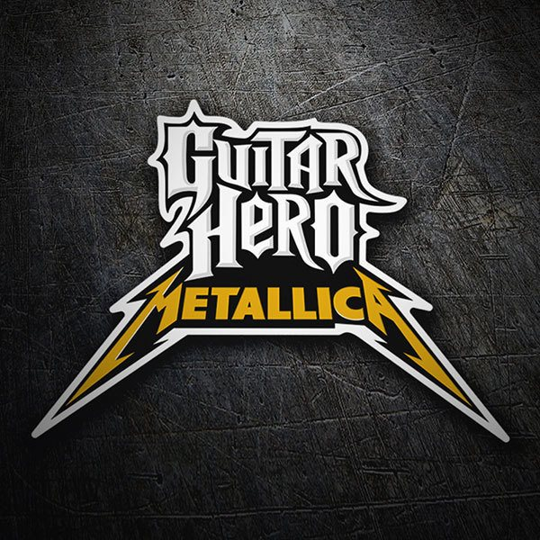 Car & Motorbike Stickers: Guitar Hero Metallica