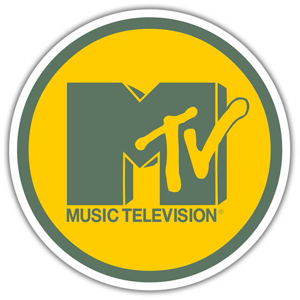Car & Motorbike Stickers: MTV Yellow