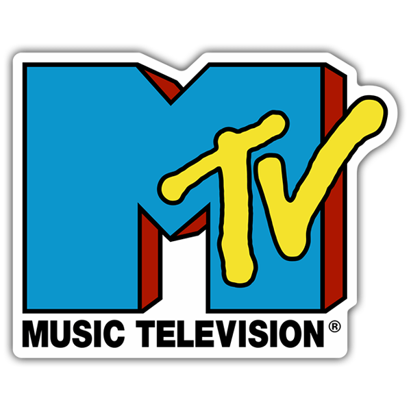 Car & Motorbike Stickers: MTV Blue