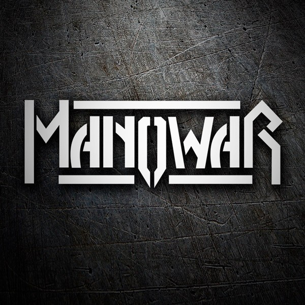Car & Motorbike Stickers: Manowar Logo
