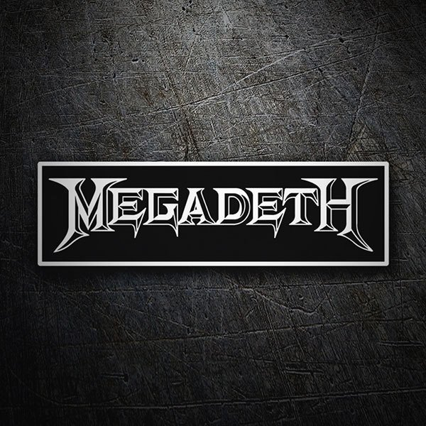 Car & Motorbike Stickers: Megadeth Logo 1