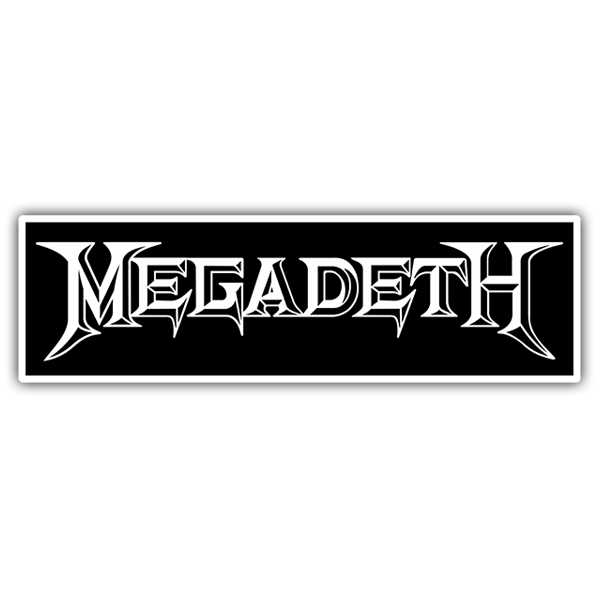 Car & Motorbike Stickers: Megadeth Logo 0