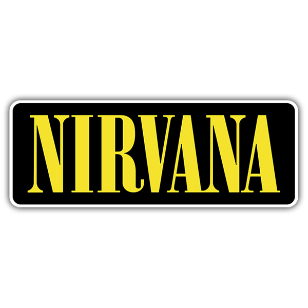 Car & Motorbike Stickers: Nirvana Logo