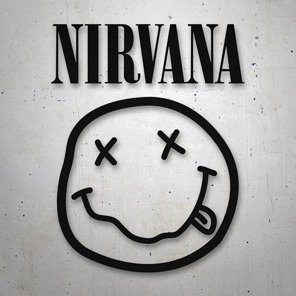 Car & Motorbike Stickers: Nirvana with Smiley Drunk