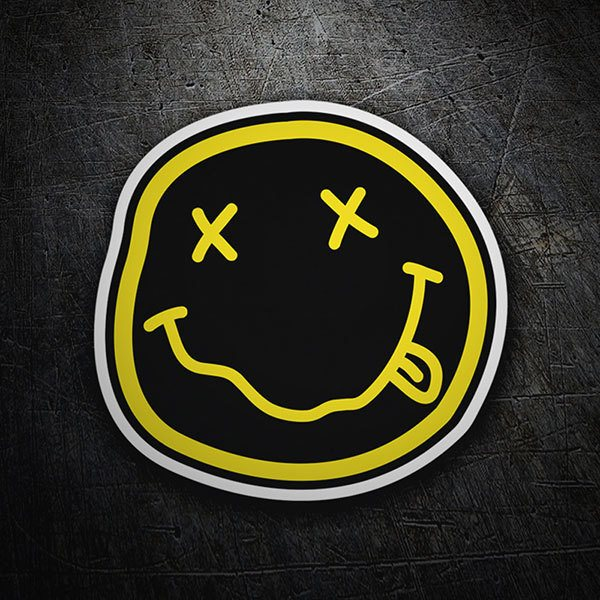 Car & Motorbike Stickers: Smiley Drunk of Nirvana Negro Black