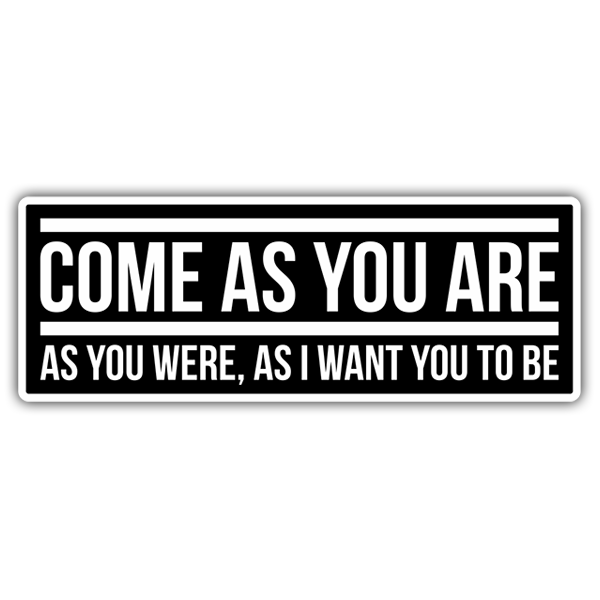 Car & Motorbike Stickers: Nirvana - Come as you are