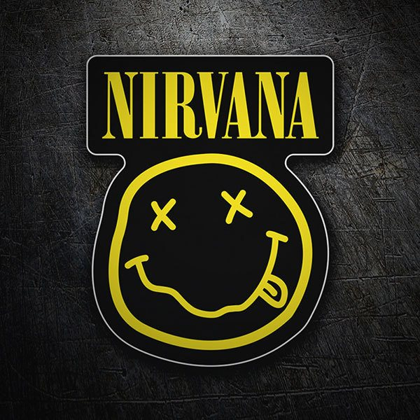 Car & Motorbike Stickers: Nirvana with Smiley Drunk Black 1