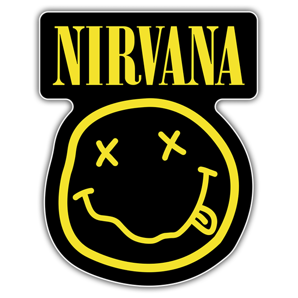 Car & Motorbike Stickers: Nirvana with Smiley Drunk Black