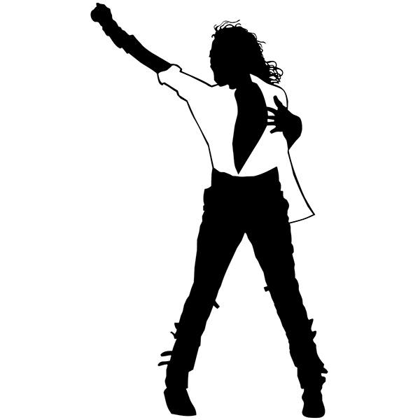 Car & Motorbike Stickers: Michael Jackson - Black or White