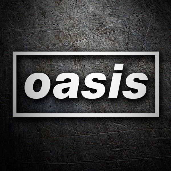 Car & Motorbike Stickers: Oasis Logo