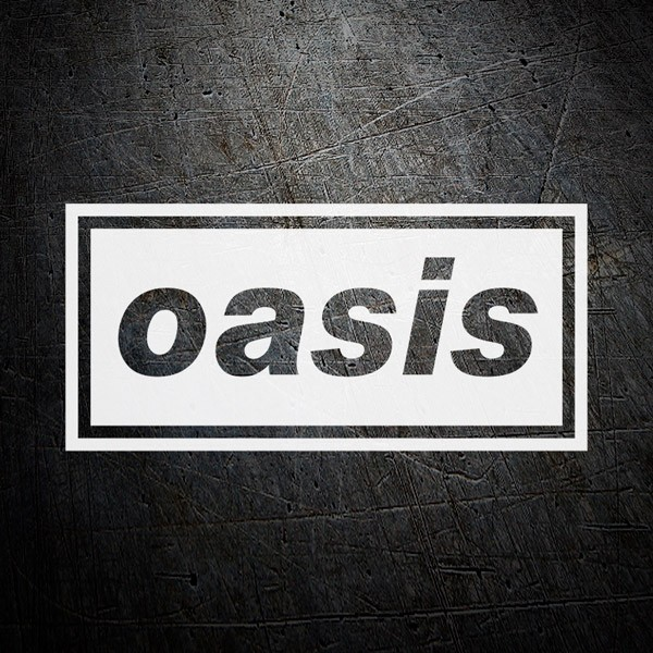 Car & Motorbike Stickers: Oasis Negative