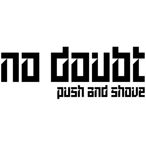 Car & Motorbike Stickers: No Doubt - Push and Shove